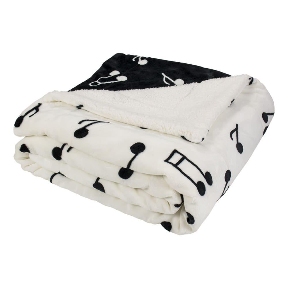 Mikroplyšová deka s baránkom 150x200 cm - Noty