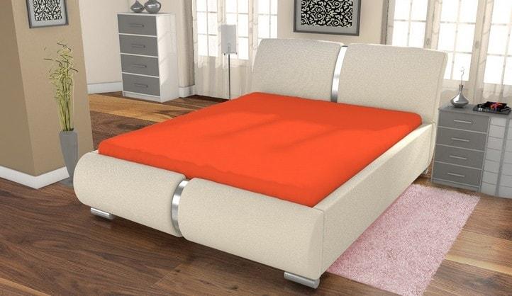 Jersey prestieradlo ECONOMY (180x200 cm) - Oranžová