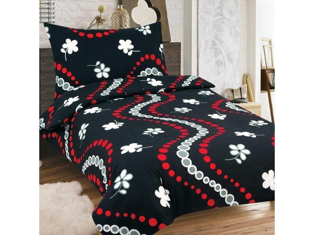 Bavlnené obliečky 140x200, 70x90 - Sofy čierna