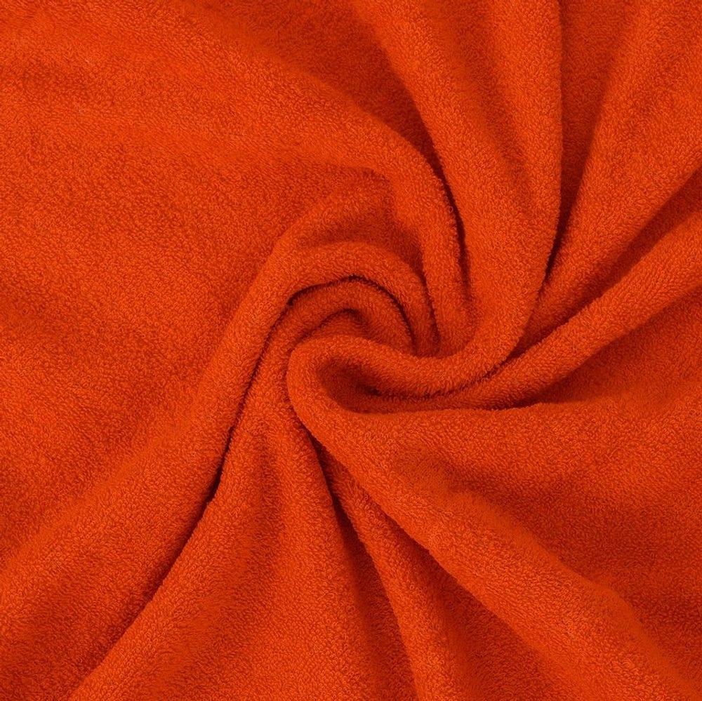 Froté prostěradlo (140 x 200 cm) - oranžové