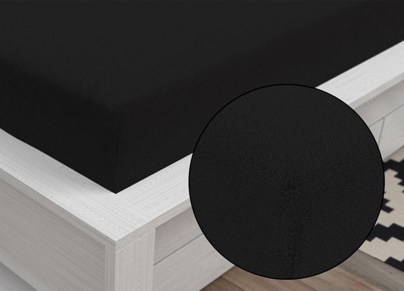Froté prestieradlo Classic (90 x 200 cm) - Čierna