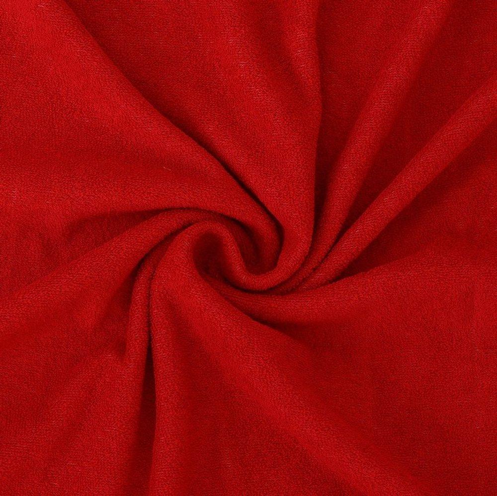 Froté prostěradlo (140 x 200 cm) - červené