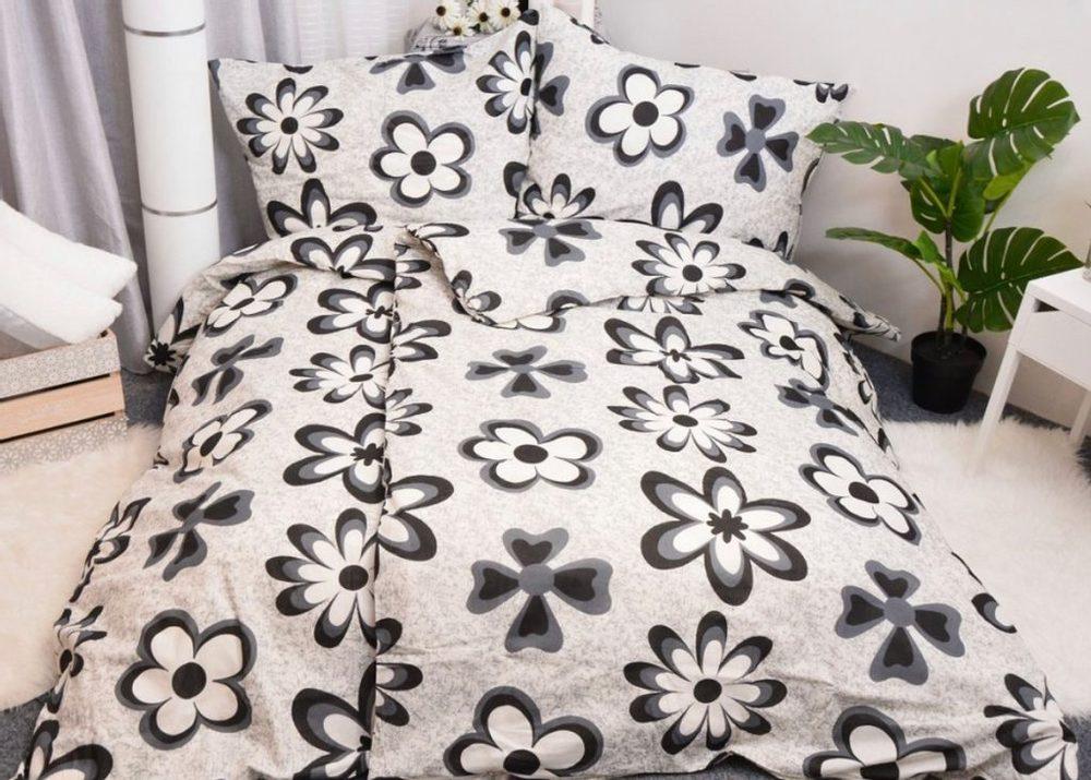Bavlnené obliečky 140x200, 70x90 - Emily čierná