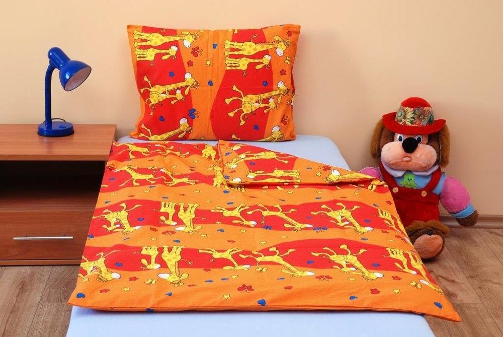 Brotex Bavlnené obliečky do malej postieľky Žirafa oranžová