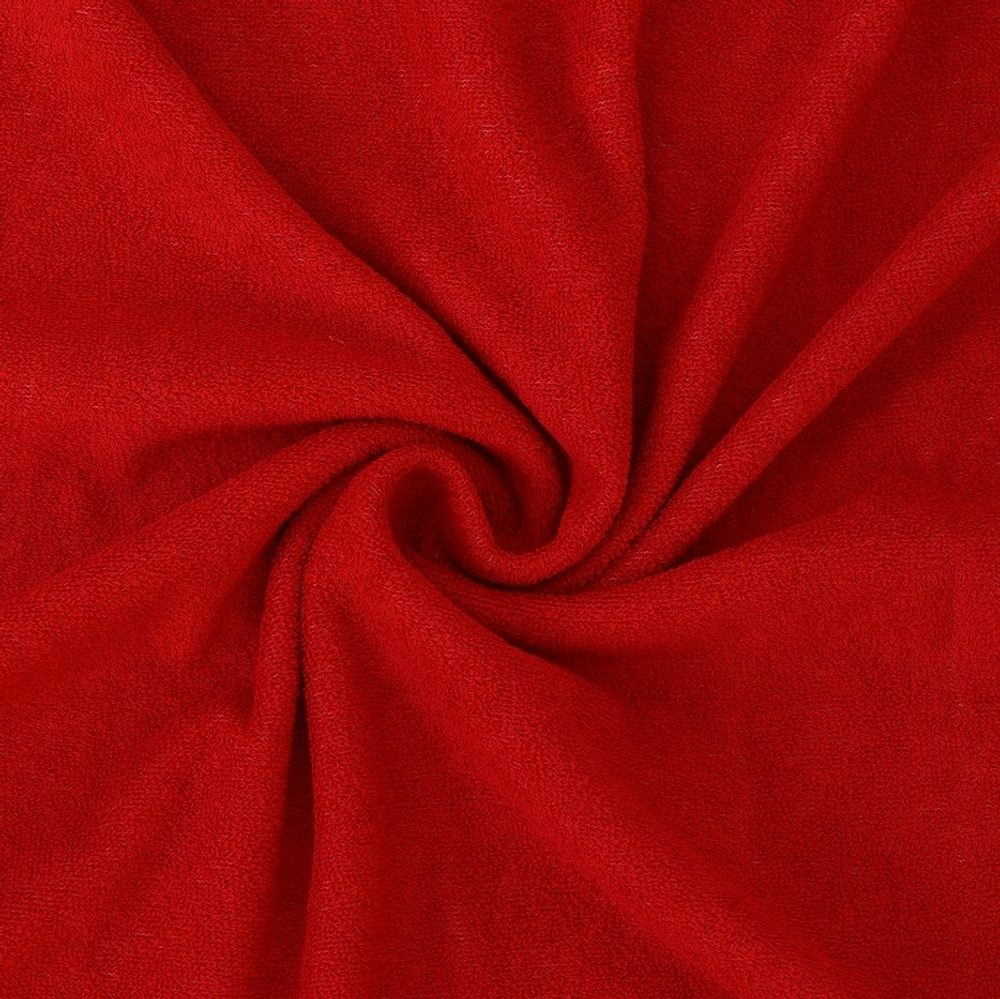 Froté prostěradlo (120 x 200 cm) - červené