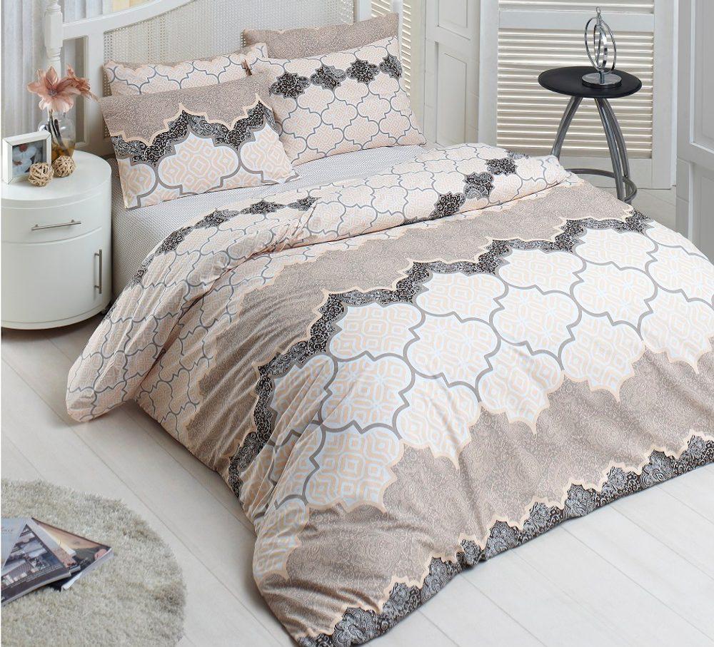 Brotex Bavlnené obliečky 140x200, 70x90cm Kandy natur
