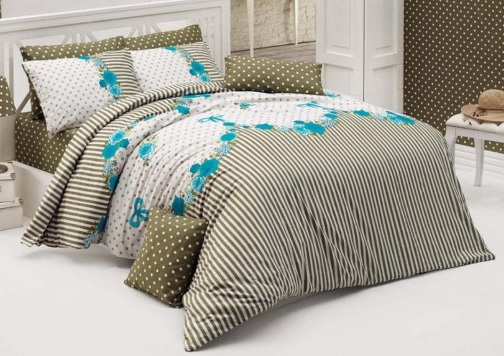 Brotex Obliečky bavlna 140x200, 70x90cm Tanya modrá