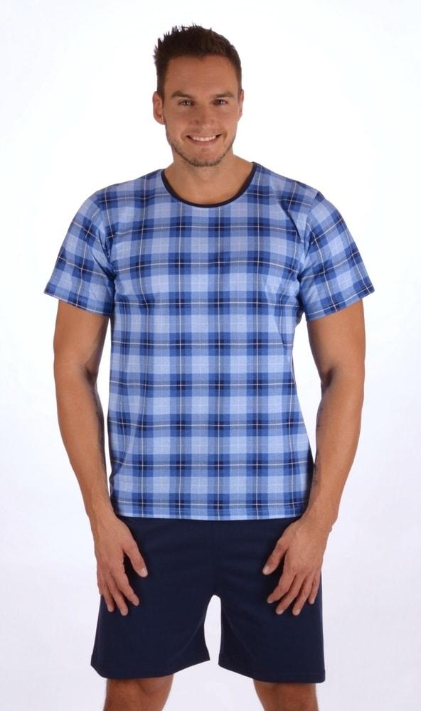 Pánské pyžamo šortky Jan - modrá; L