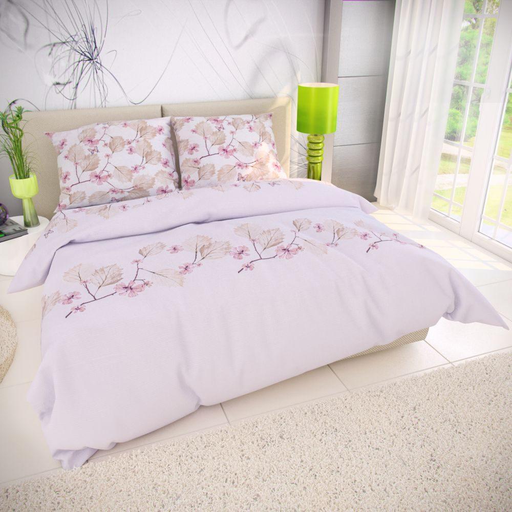 Klasické ložní bavlněné povlečení 140x200, 70x90 cm MARY růžová