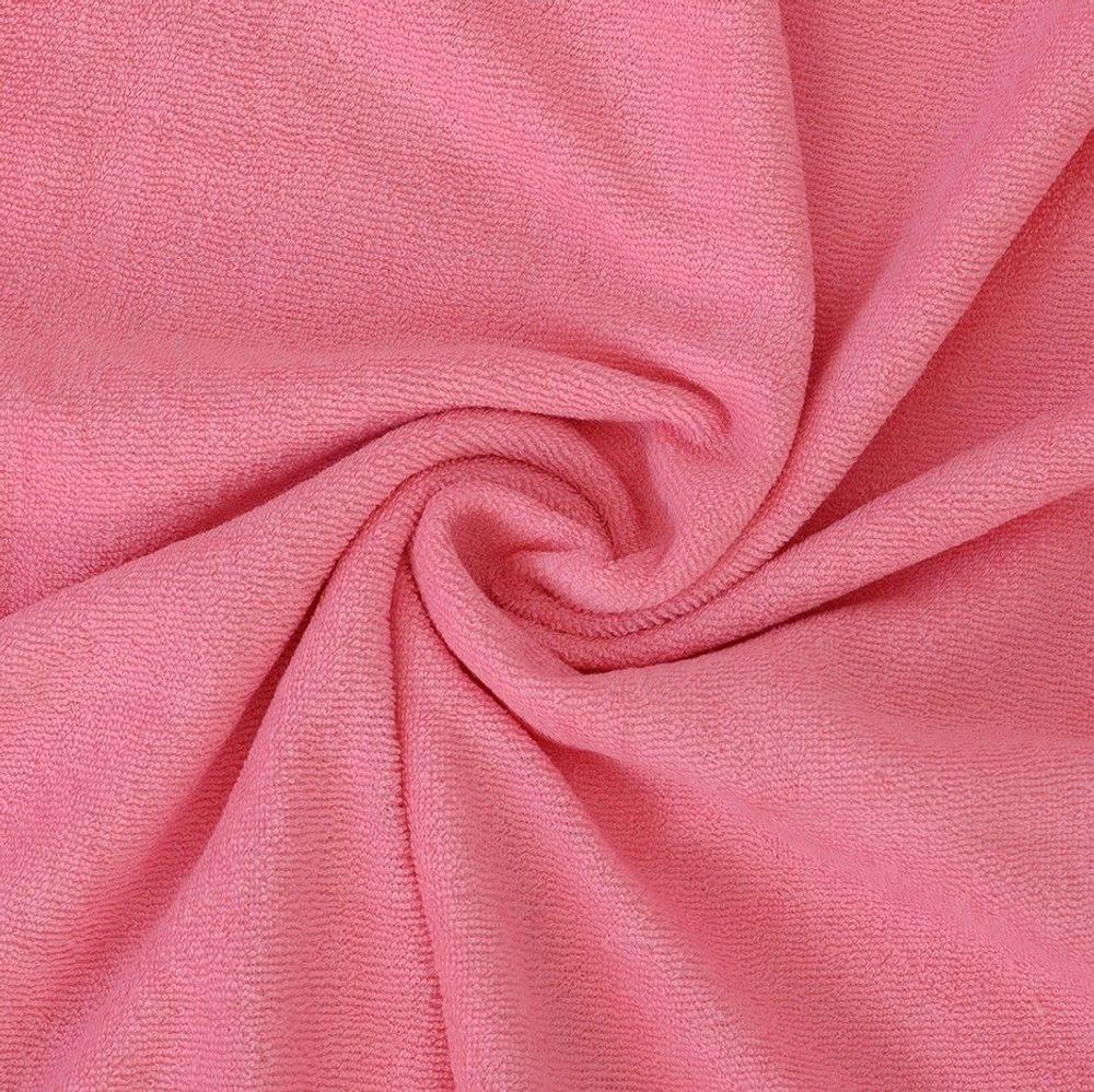 Froté prostěradlo (140 x 200 cm) - růžové