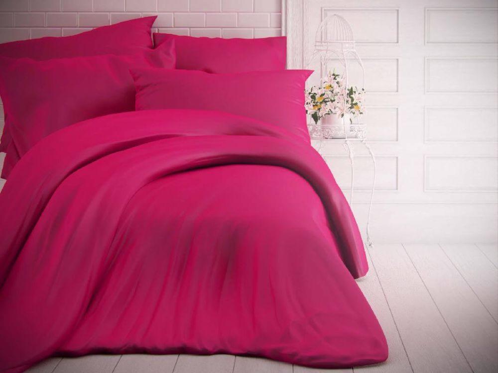 Kvalitex Jednofarebné bavlnené obliečky 140x200, 70x90cm purpurové