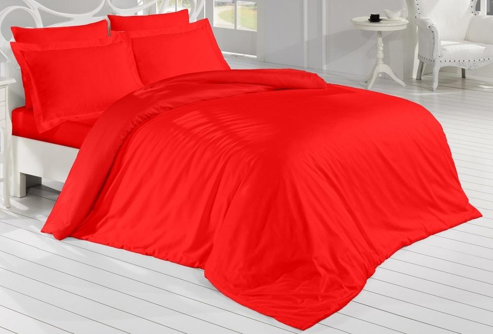 Brotex Obliečky Satén 140x200 cm, 70x90 cm červené