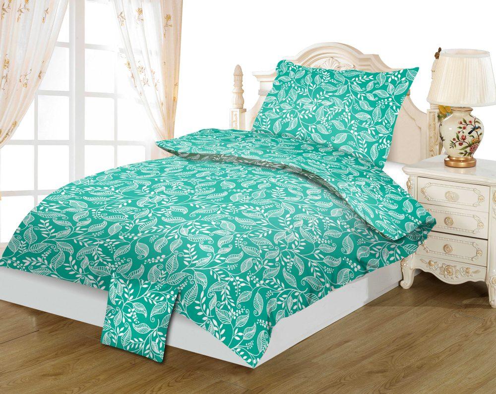 Bavlnené obliečky 3-dielne 140x200, 70x90 + 40x40 - Tereza green