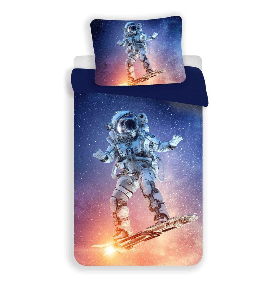 3D obliečky 140x200 + 70x90 - Astronaut