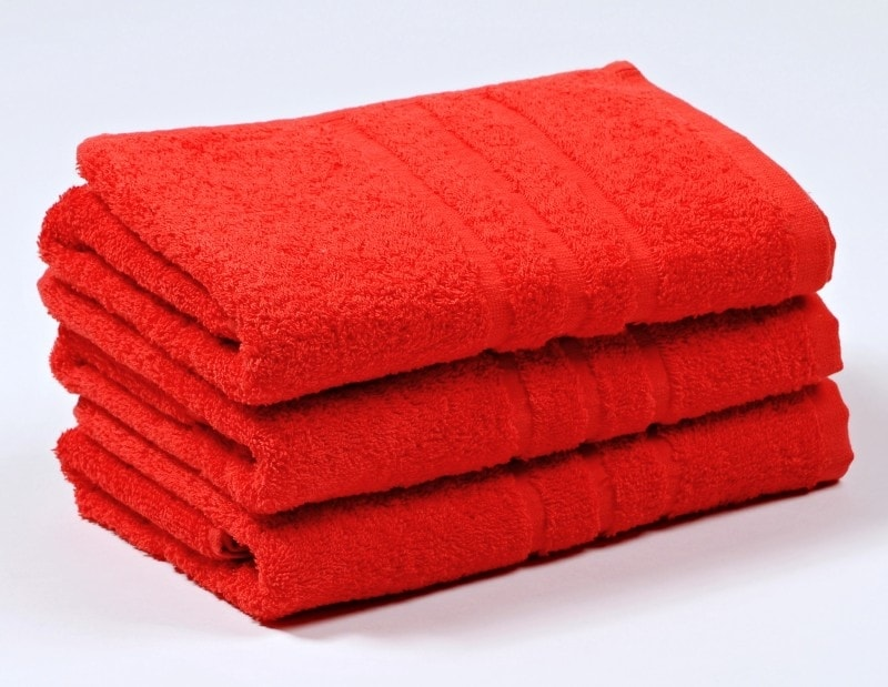 Ručník froté 50x100 cm - COMFORT - červený