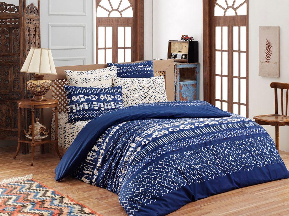 Brotex Bavlnené obliečky 140x200, 70x90cm Laguna blue
