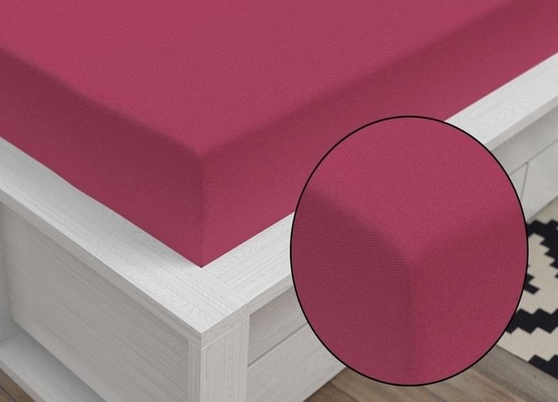 Jersey prestieradlo Classic (90 x 200 cm) - Bordó