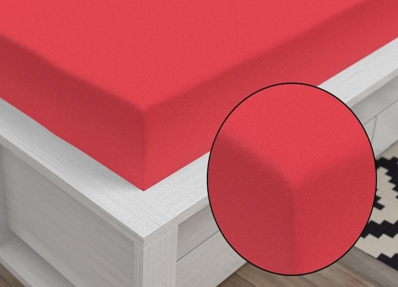 Jersey prestieradlo Classic (90 x 200 cm) - Červená