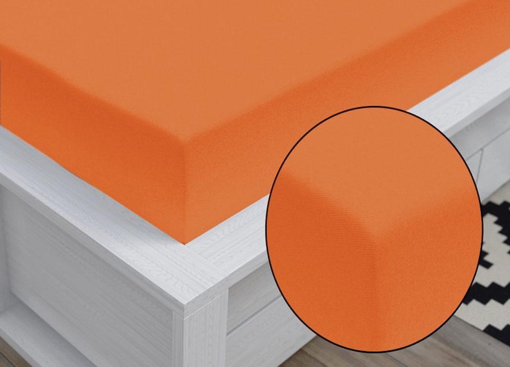 Jersey prestieradlo Classic (90 x 200 cm) - Oranžová