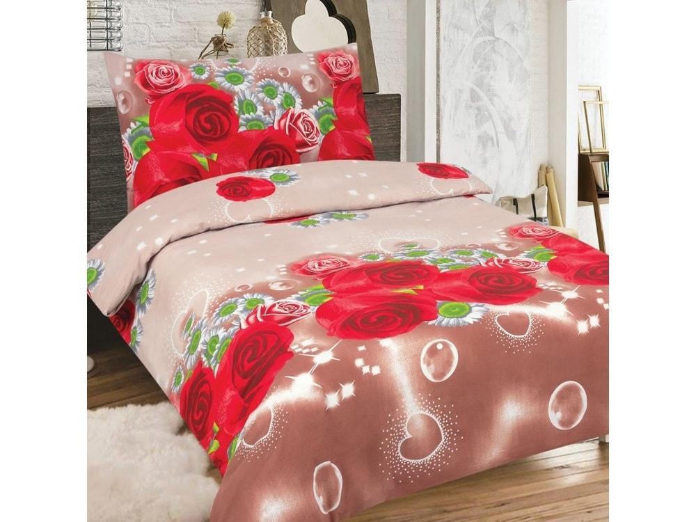 Bavlnené obliečky 140x200, 70x90 - Red rose