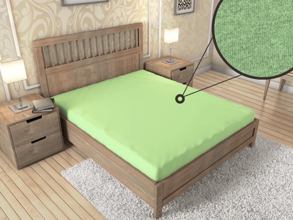Jersey prestieradlo ECONOMY (180x200 cm) - Svetlo zelená