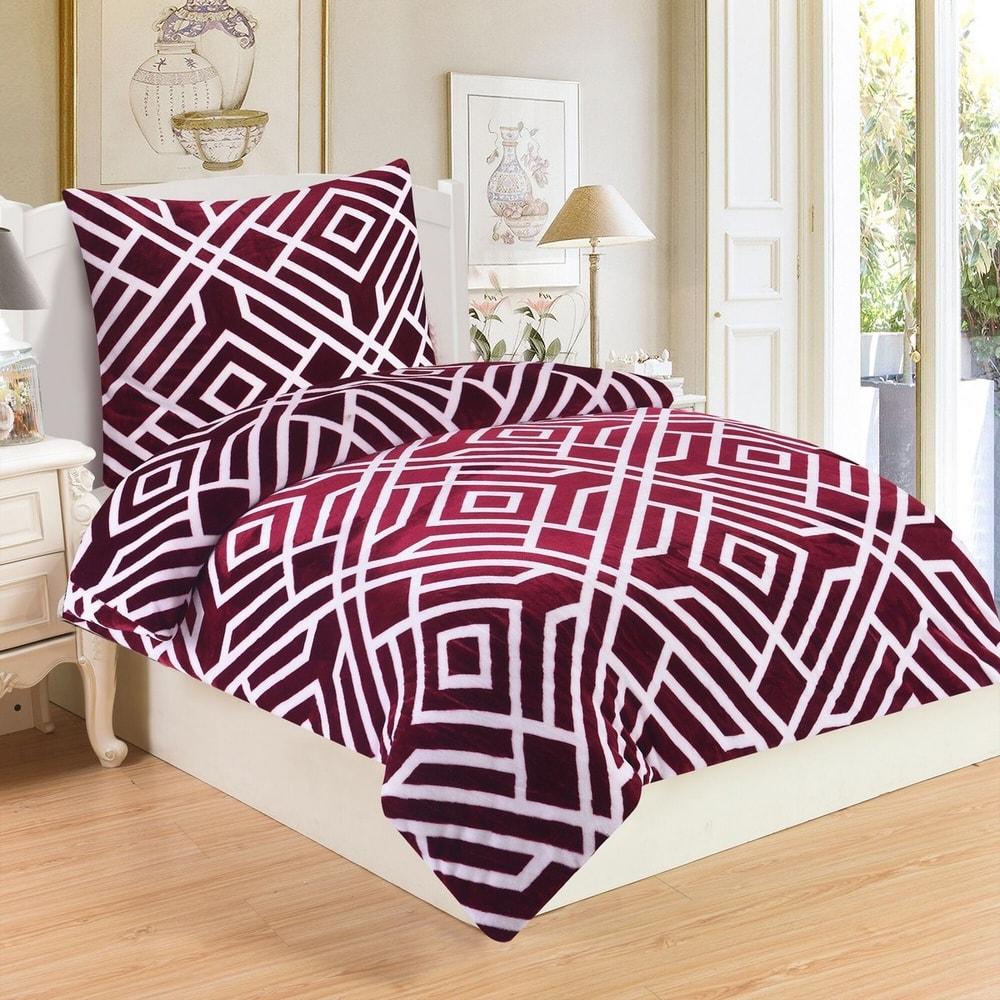 Obliečky mikroplyš Labyrint Wine, 140 x 200 cm, 70 x 90 cm