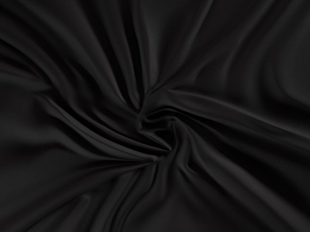 Kvalitex Saténové prestieradlo (120 x 200 cm) - čierne - výšku matrace do 15cm