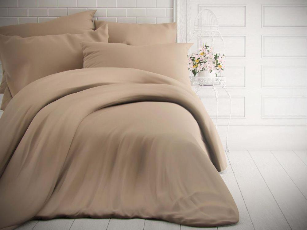 Kvalitex Jednofarebné bavlnené obliečky 140x200, 70x90cm béžové