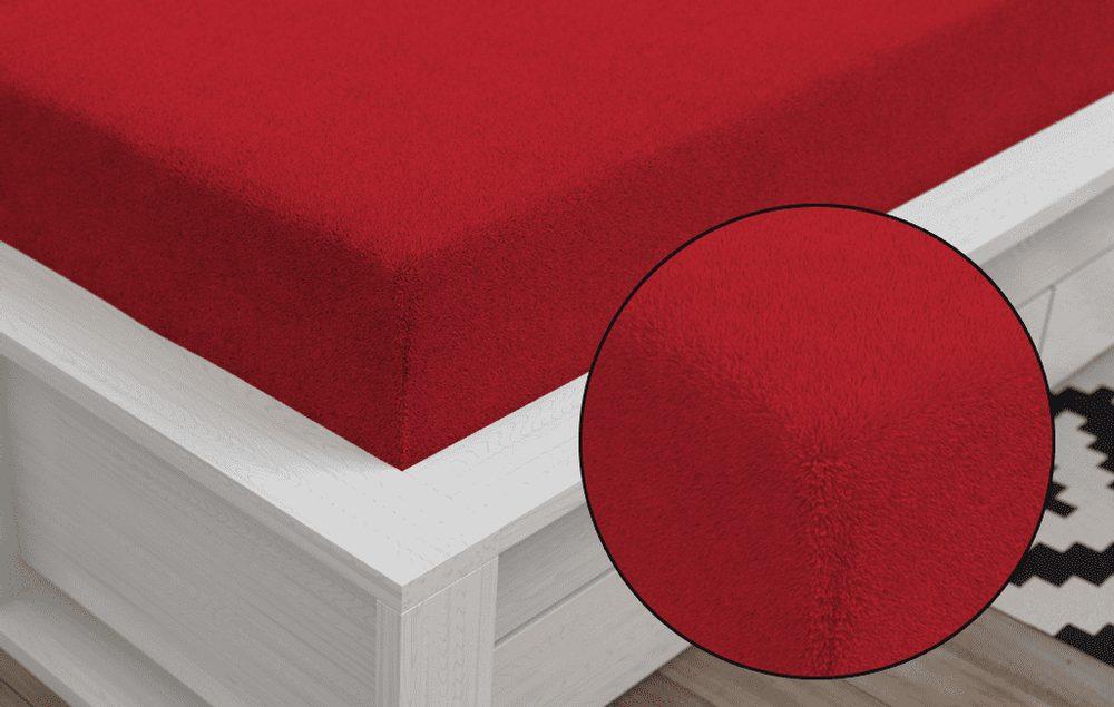 Froté prestieradlo Classic (90 x 200 cm) - Červená