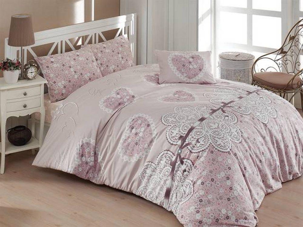 Brotex Bavlnené obliečky 140x200, 70x90cm Dream love