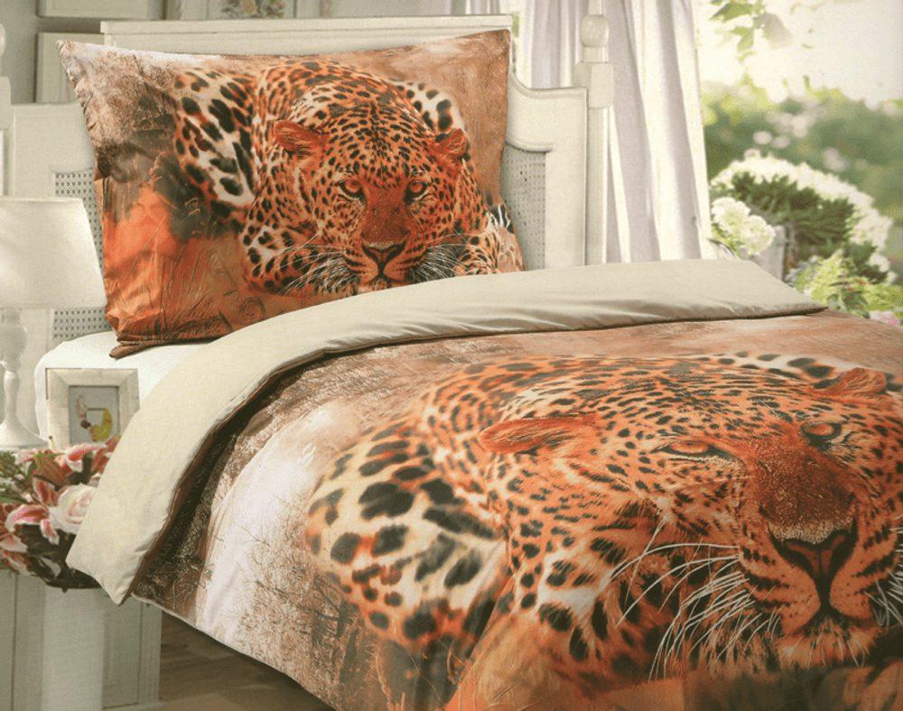 3D obliečky 140x200 + 70x90 - Leopard