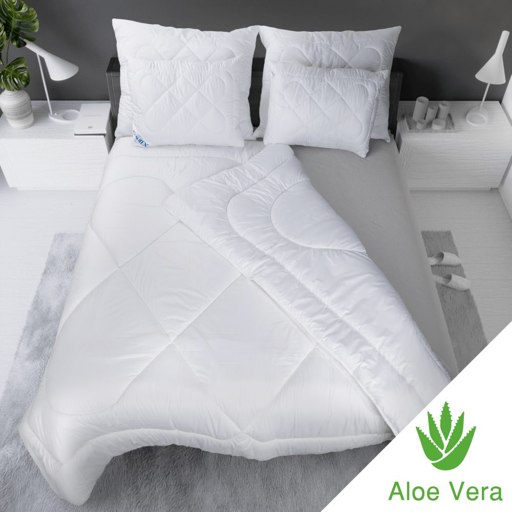 Kvalitex Luxusná francúzska predĺžená prikrývka ALOE VERA 240x220cm
