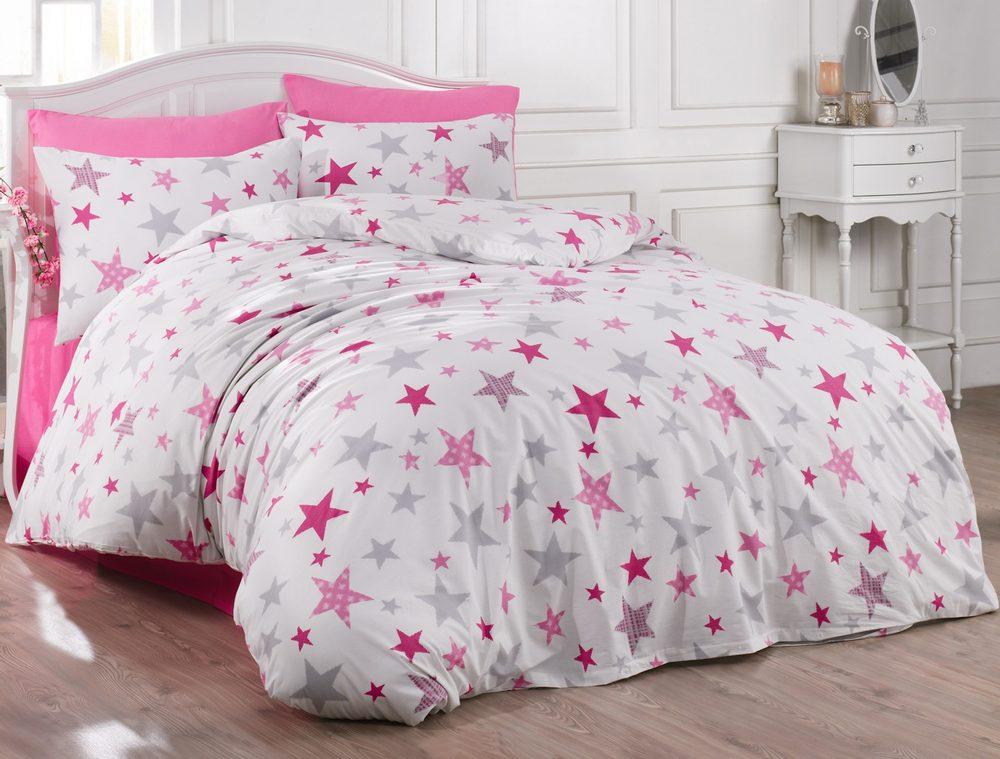 Brotex Bavlnené obliečky 140x200, 70x90cm Galaxy pink