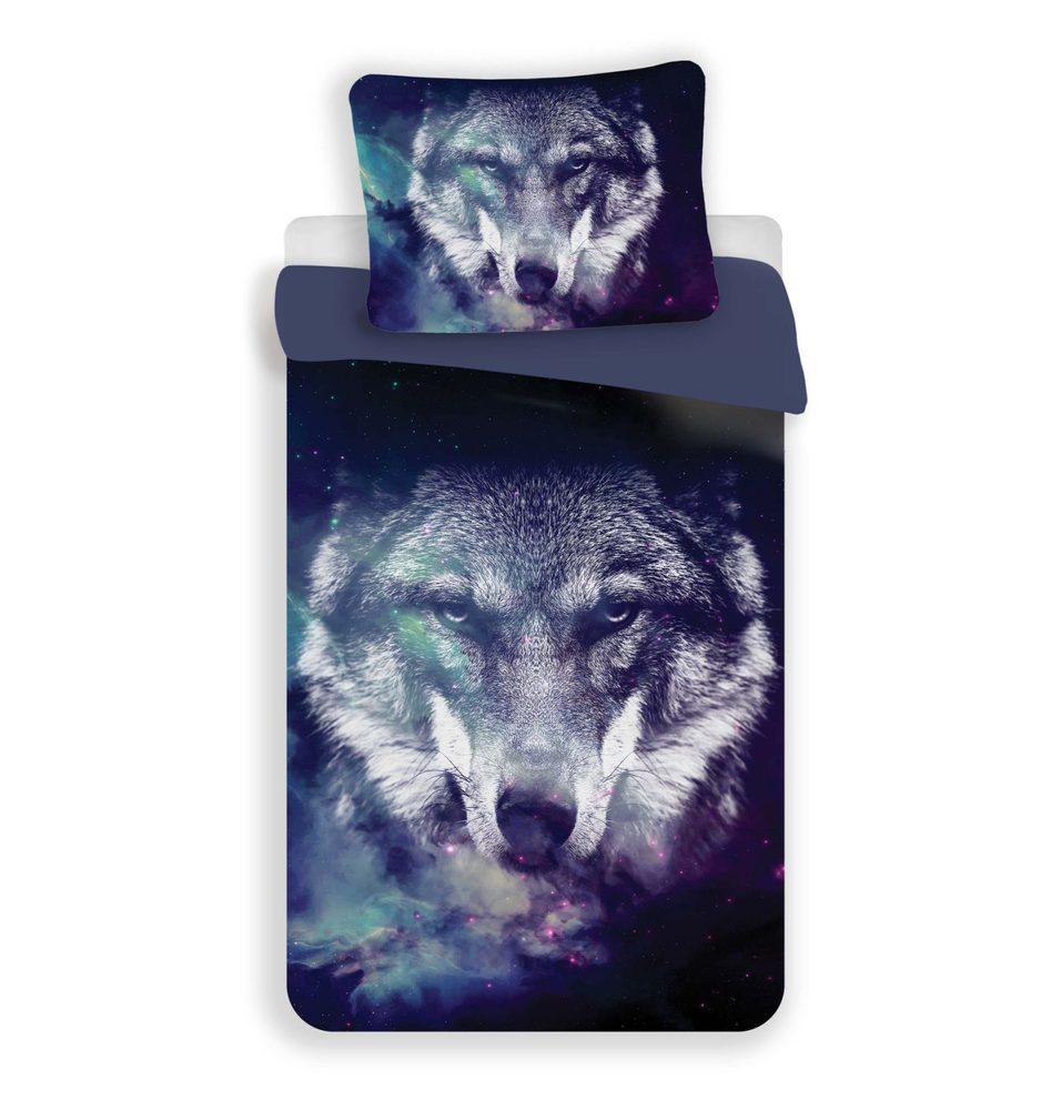3D obliečky 140x200 + 70x90 - Wolf