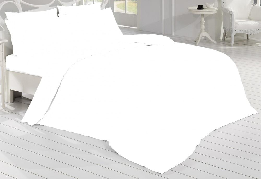 Saténové povlečení 140x200, 70x90 cm - bílá