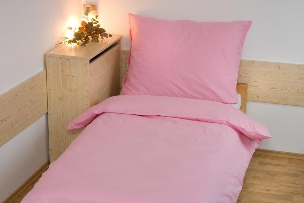 Brotex Obliečky bavlna UNI 140x200, 70x90cm Ružová