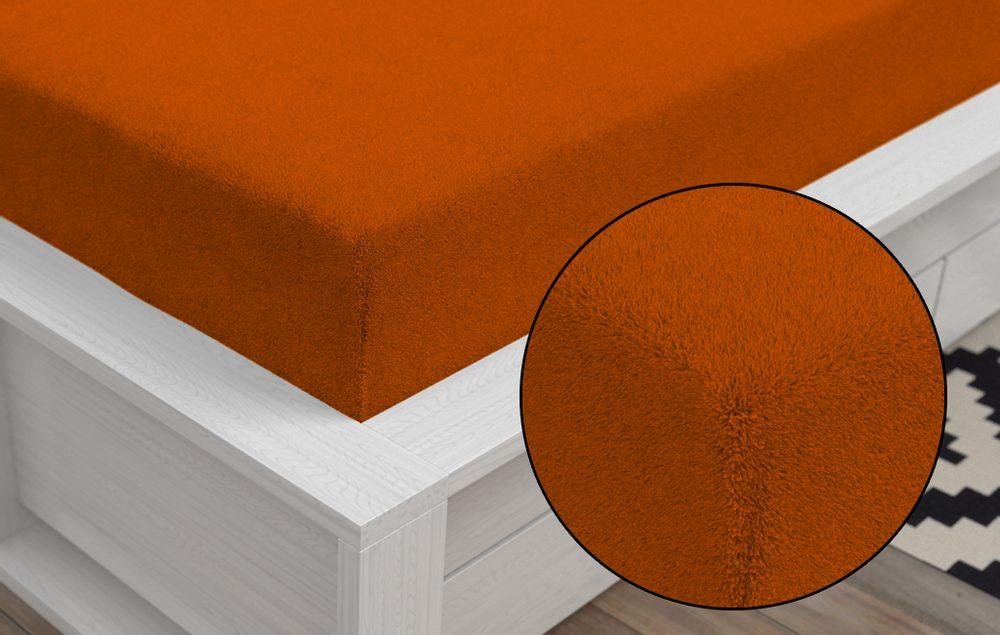 Froté prestieradlo Classic (90 x 200 cm) - Oranžová