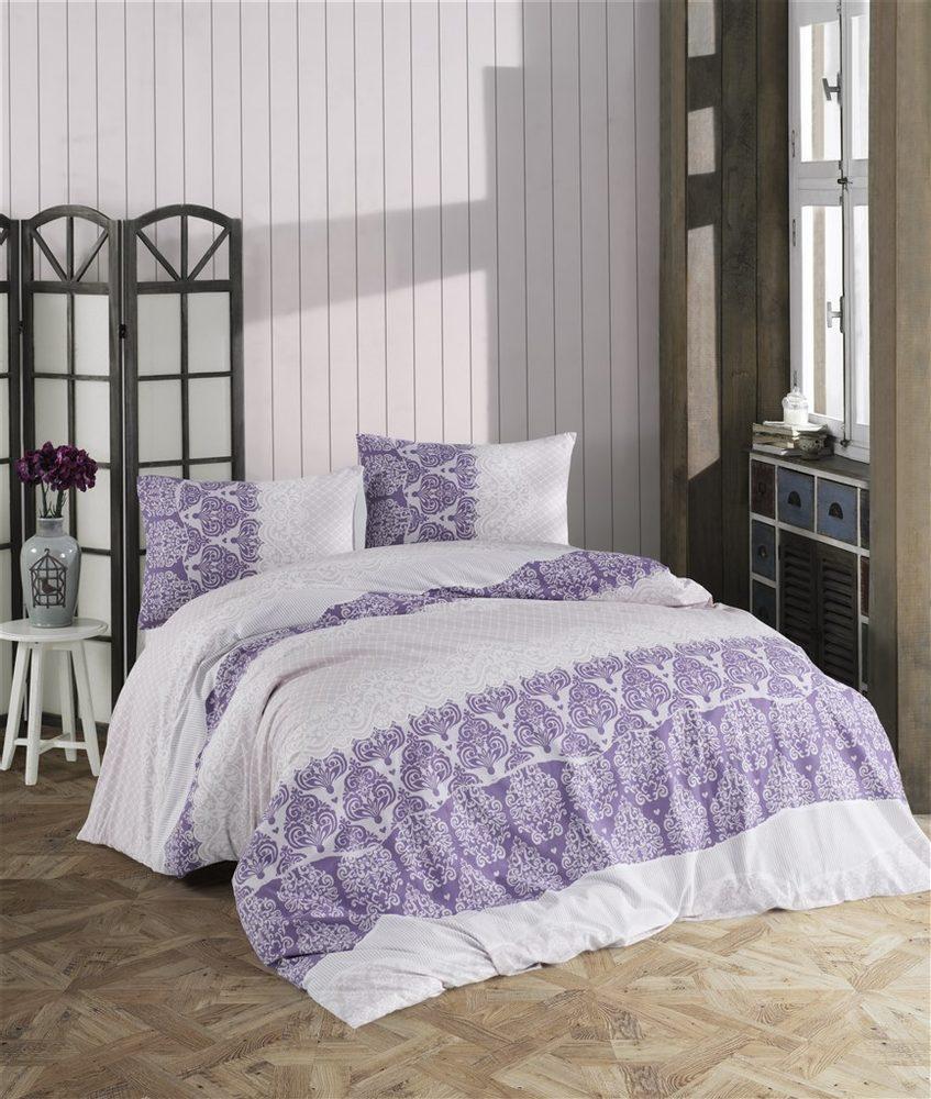 Brotex Bavlnené obliečky 200x200,70x90 Madelaine purple