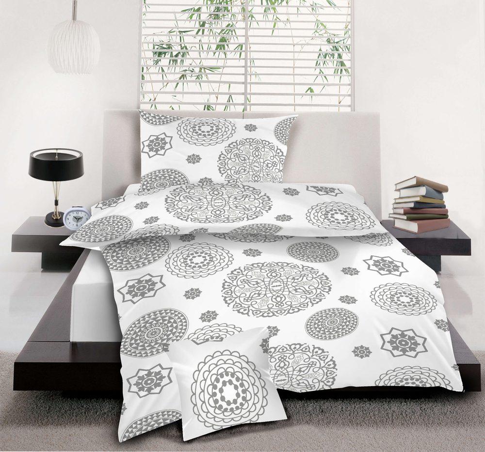 Levně Bavlněné povlečení 3dílné 140x200, 70x90, 40x40 - Mandala White