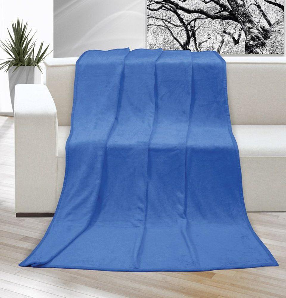 Deka micro jednofarebná 150x200 cm modrá