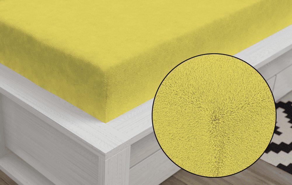 Froté prestieradlo Classic (90 x 200 cm) - Žltá