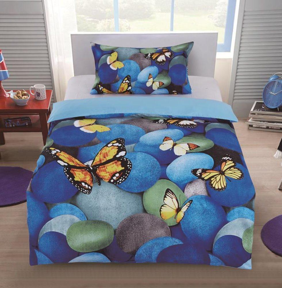 3D obliečky 140x200 + 70x90 - Motýlia romance