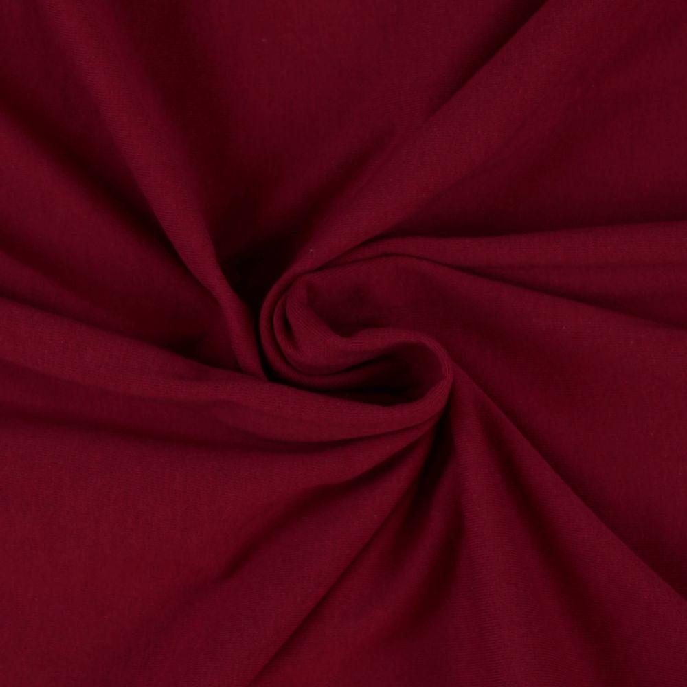 Kvalitex Jersey prestieradlo (90 x 200 cm) - vínové