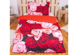 3D obliečky 140x200 + 70x90 - Bed of roses