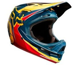 Přilba Fox racing Rampage PRO CARBON MIPS (red/yellow)