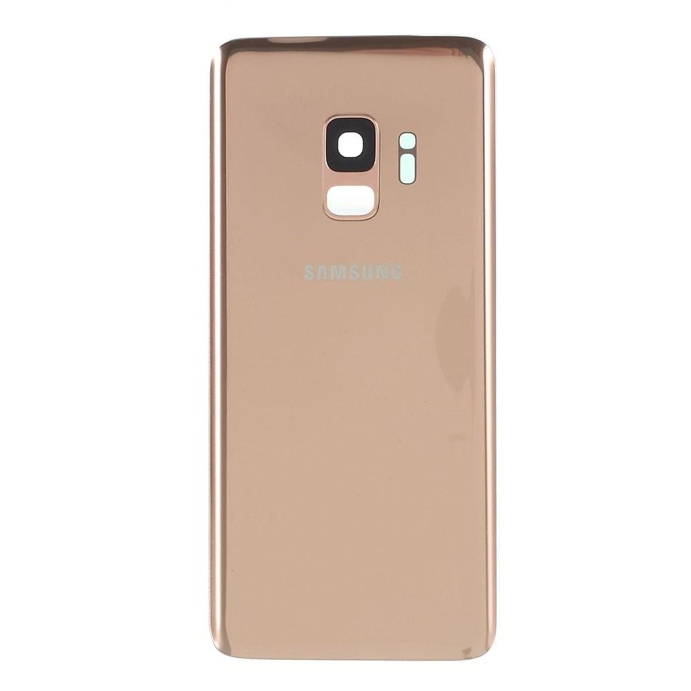 Samsung Galaxy S9 zadní kryt baterie osazený včetně krytky čočky fotoaparátu zlatý G960
