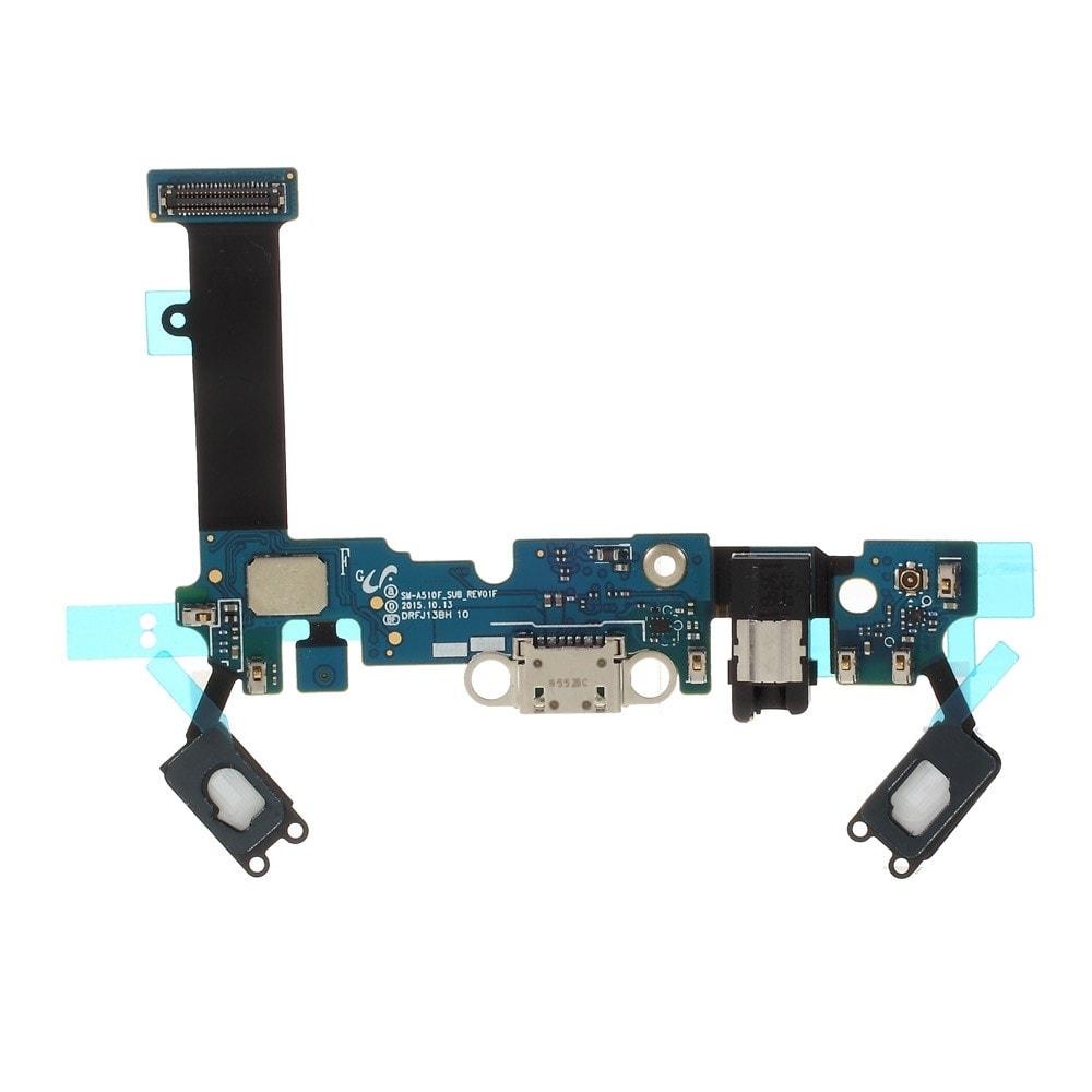 Samsung Galaxy A5 2016 dock SUB konektor micro usb nabíjení systémová tlačítka mikrofon A510F