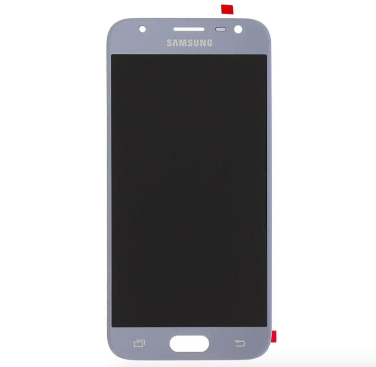 Samsung Galaxy J3 2017 LCD displej dotykové sklo stříbrné J330 / J330F