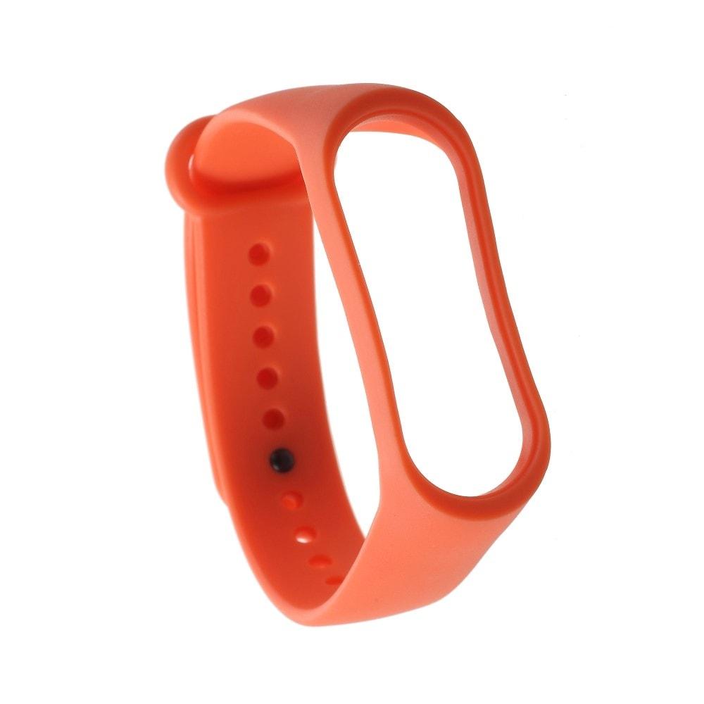Xiaomi Mi Band 3 / 4 pásek na ruku řemínek silikon oranžový