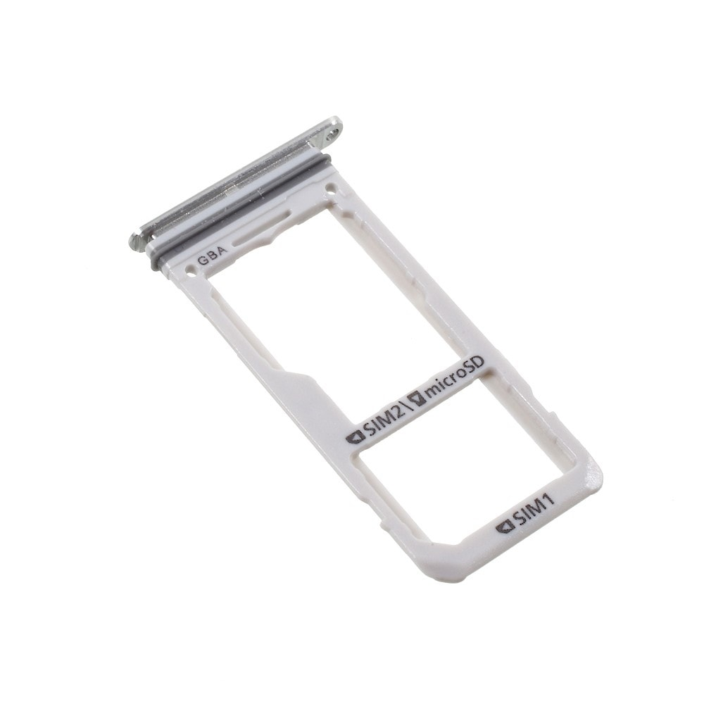 Samsung Galaxy S8 / S8 Plus šuplík na SIM SD stříbrný G950 / G955 DUAL SIM
